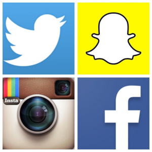 Facebook, Snapchat, Instagram, and Twitter logo