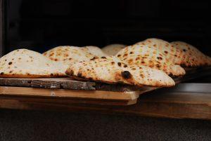 fresh baked organic pita bread